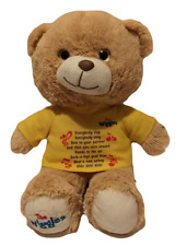 The Wiggles Teddy Bear Plush Song Words Wearing Yellow T-Shirt