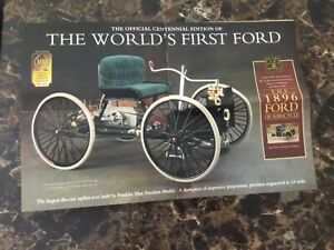 Franklin mint 1896 Ford Quadricycle promotional brochure