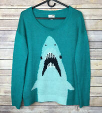 La Hearts Womens Sweater M Green Shark
