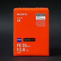 Sony ZEISS Sonnar T* FE 35mm F2.8 ZA Lens SEL35F28Z Genuine
