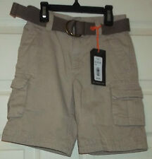 First Wave Boys Chino Cargo Shorts with Belt  Size 6 NWT