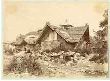 Juillet. Suisse, pavillon du club Alpin, exposition nationale  Vintage print