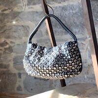 Sonia Rykel Black Embellished Handbag