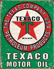 Texaco Oil Weathered Tin Sign Tin Sign - 12.5x16