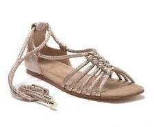 AGL Attilio Giusti Leombruni Ankle Wrap Gladiator Sandal Nude Gold Sz 8 NIB $480