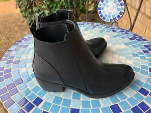 SEVEN STEPS Black Slip On Elastic Side Boots Size 40 (9)  Near New