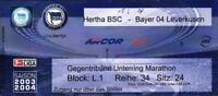 Ticket BL 2003/2004 Hertha BSC - Bayer 04 Leverkusen