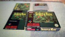 Snes secret of mana CIB UK PAL Super Nintendo