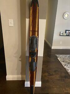 "Vintage 68"" MAHERAJAH 175cm - Slalom Wood Water Ski - Beautiful"