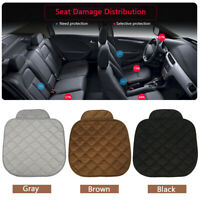 Universal Black Car Seat Cushion Front Seat Covers Plush Protector Mat Support
