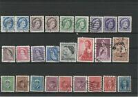 Wertvolles Lot Canada Briefmarken ab 1930 gestempelt 26 Werte