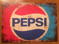 Tin Sign Vintage Pepsi Rustic