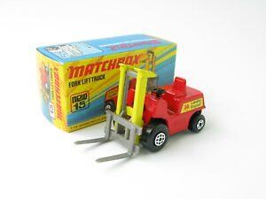 Matchbox Superfast 15 Fork Lift Truck Red Lansing Crisp Box With New