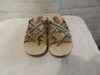 Womens Brown & Blue Skechers Outdoor Lifestyle sandals size 8
