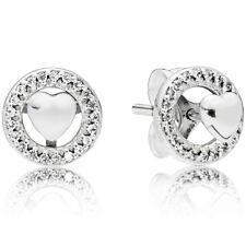 PANDORA Ohrstecker Ohrringe Earrings 297709 CZ Herzen Silber