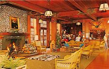 Quinault Washington Lago Quinault Lodge Vestíbulo Tarjeta Postal Década 1960