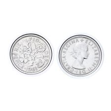 Genuine Polished Lucky Sixpence Cufflinks | 1961 coins, 57th birthday present, G