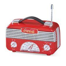 Coca Cola Vintage Am/Fm Tuner Radio - Portable Coke Logo Acrylic Replica