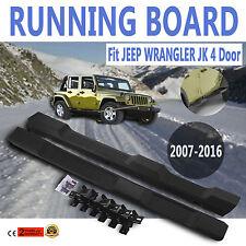 2007 2016 Jeep Wrangler JK Unlimited Running Board Side Step Nerf Bars  Black OE