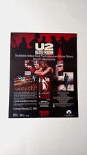 "U2   ""RATTLE AND HUM""   (1989)  RARE ORIGINAL PRINT PROMO POSTER AD"