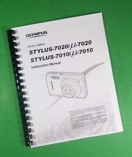 LASER Printed Olympus Stylus 7010 Stylus 7020 Camera 72 Page Owners Manual Guide