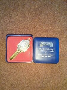 Charles and Diana Royal Wedding 29 July 1981 Commemorative Super Key Gold Plated