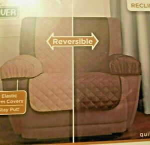 Maytex Smart Cover Recliner reversible furniture cover 3 Pc quilted microfiber