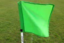 Set of four OTTOPT foldable GREEN corner flags with posts, spike and carry bag