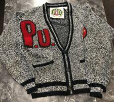 Vintage Pee Wee Herman Varsity Cardigan Sweater Jacket 1980's Rare Must Have