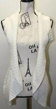 Streetwear Society Cream Open Medium Cable Knit Women Cardigan Layering