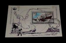 BELGIUM #B800, 1966, ANTARCTIC EXPEDITION,SOUVENIR SHEET, CTO, NICE! LOOK!