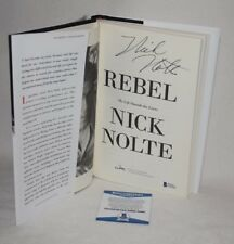 NICK NOLTE SIGNED AUTOGRAPHED REBEL HARDCOVER BOOK BAS COA D39862 proof