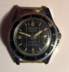 Vintage wristwatch SICURA (BREITLING) submarine 23 jewels all swiss made