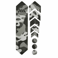 All Mountain Style HONEYCOMB MTB Frame Guard Protection Stickers CLEAR/CAMO