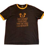 Disneyland Disney Blue Men's T-shirt Size XL Mickey Mouse Hat Graphics Shirt