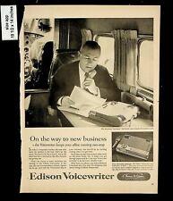 1956 Edison Voicewriter Thomas a Edison Voice Recorder Vintage Print Ad 8304