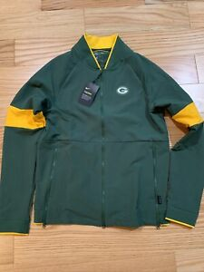 Nike Therma Mens Full Zip Football Jacket NFL Green Bay Packers Size S AO4356