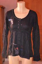DESIGUAL -Très jolie chemise noire - Taille 38 - EXCELLENT ÉTAT
