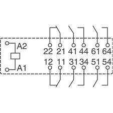 1 PC. v23050-a1024-a542 relè di sicurezza relè 4xno 2xnc 8a 24v NEW