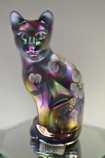Fenton CAT STYLZ Violet Satin (IRID) Historic Collection 1999 5065XP FreeUSAship