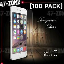 "For Apple iPhone 6 6S 4.7"" Clear Tempered Glass Screen Protector 100 PC"