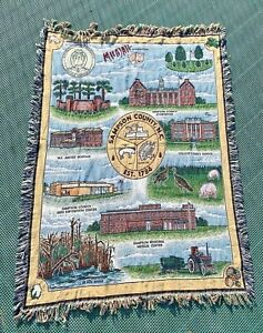 Sampson Country North Carolina Afghan Tapestry Throw Blanket Black River Pork NC