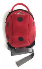 "LittleLife Toddler / Pet Backpack Lady Bug Bag 8""x7""x4"" NO LEASH/Strap INCLUDED"