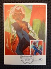 BUND MK 1974 PAINTING EXPRESSIONISM RARE MAXIMUM CARD MC CM c134