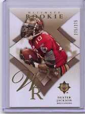Dexter Jackson 2008 Ultimate Collection RC #151  Ser#d 275/275  Rookie