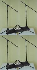 4 x Mikrofonständer ECO mit 2 x Tragetasche ADAM HALL Mikrofon-Stativ mit Galgen