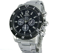 SEIKO MEN SOLAR CHRONOGRAPH 45mm STAINLESS SOLID STEEL SSC245 SSC245P1