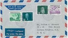 POSTAL HISTORY : LIECHTENSTEIN - COVER to USA - BIRDS 1943