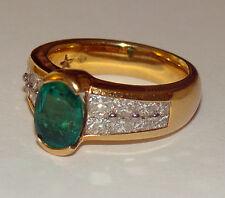 H.Stern Designer 18K 750 YG Oval Emerald Diamond Ring 11.4Gms Sze 8 SEND OFFER