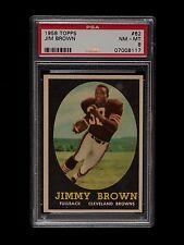 1958 Topps Jim Brown RC PSA 8